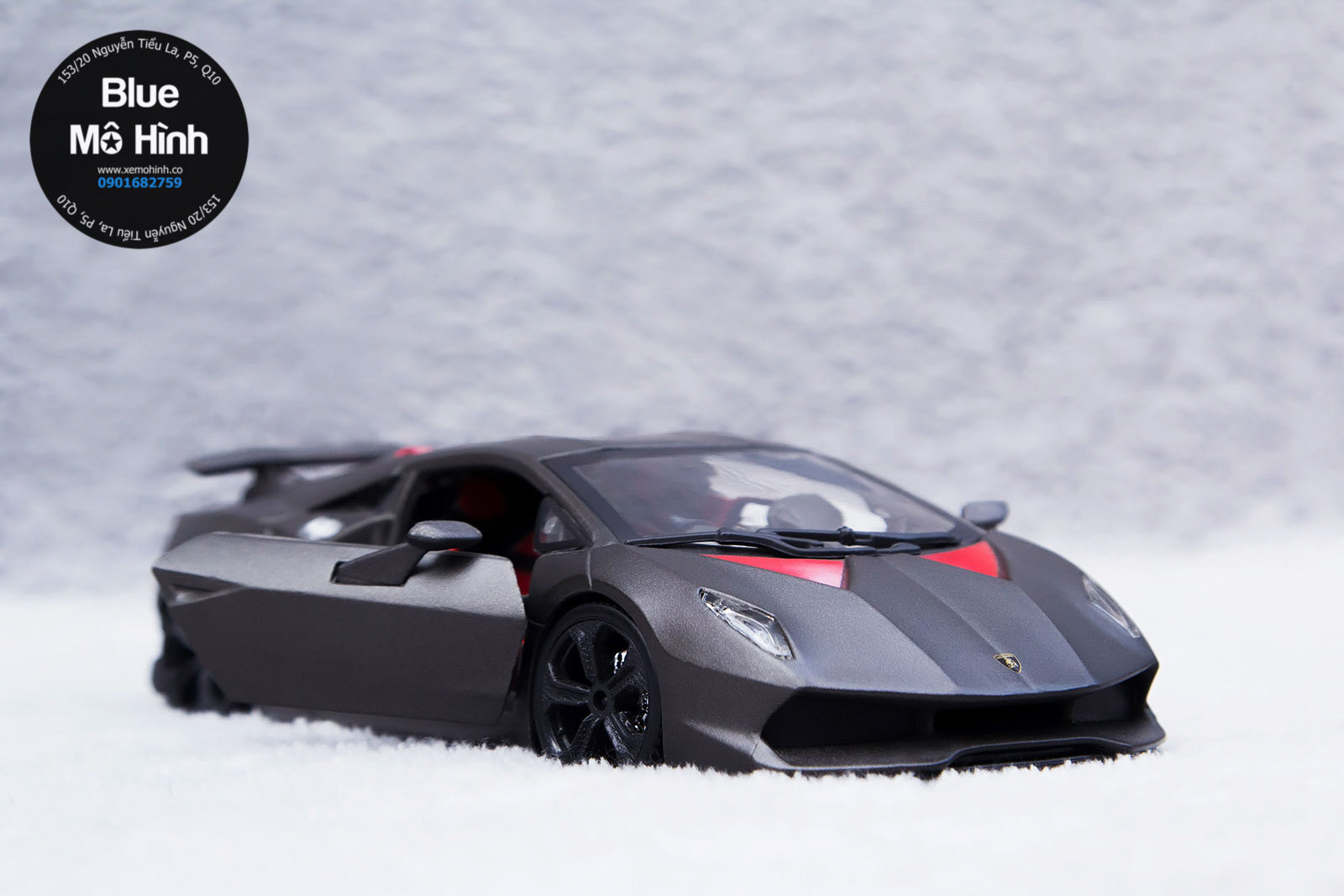 Xe Mo Hinh Lamborghini Sesto Elemento Bburago 1 24 Blue Mo Hinh